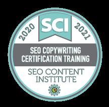 SEO Copywriting Certification Training badge