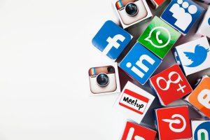 Facebook, Google+Twitter Social Media