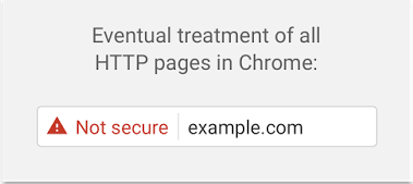 HTTP marked not secure in Chrome