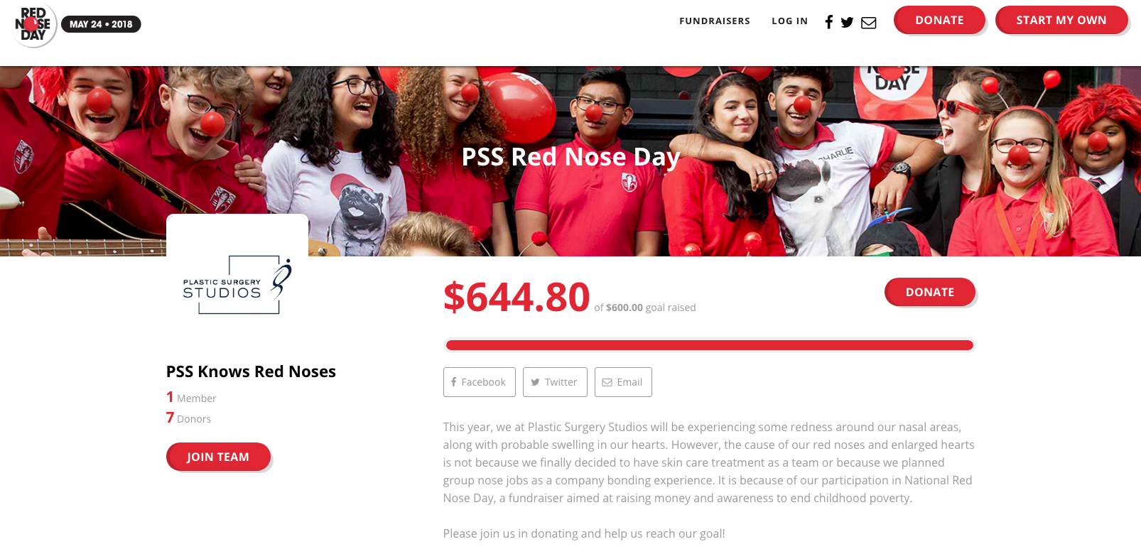 Red Nose Day Fundraiser Page