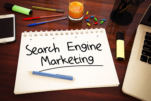 search engine marketing - handwritten text in a notebook on a desk-img-blog