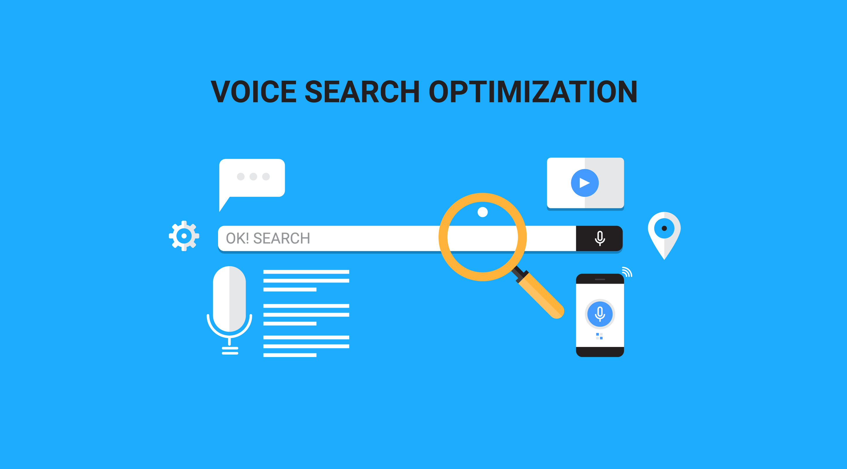 voice search optimization flat vector banner illustration with icons-img-blog
