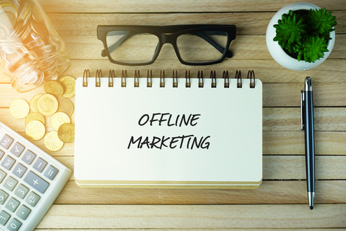 offline marketing notebook