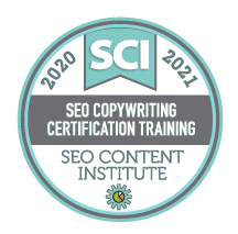 SEO Copywriting badge from the SEO Content Institute.